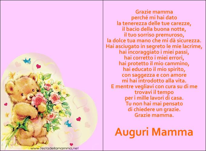 Molto Biglietti Festa della Mamma - Biglietti Auguri Festa della mamma LH35