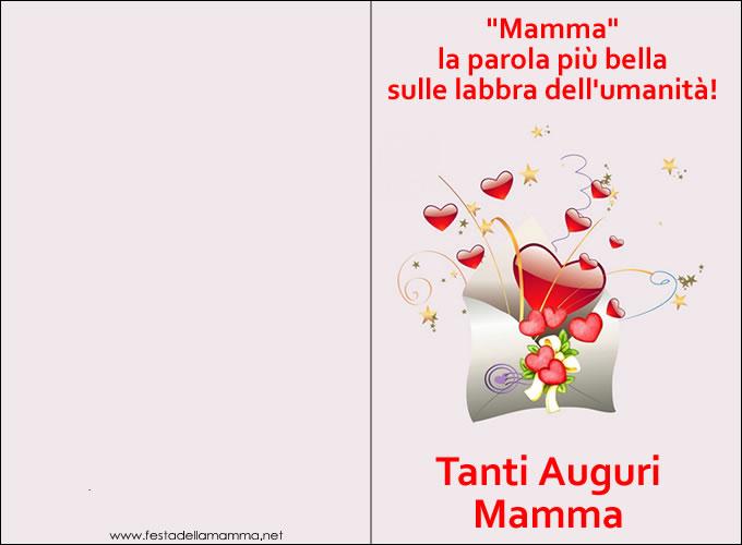Super Biglietti Festa della Mamma - Biglietti Auguri Festa della mamma CU78